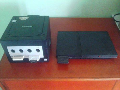 Combo Nintendo Gamecube Y Play Station 2 Buenas Condiciones