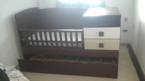 Cuna Cama Duplex Convertible Con Escritorio