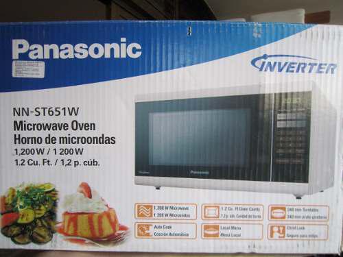 Horno Microondas Panasonic 1200w 1.2 Pcut Mod Nn-st651w 140d