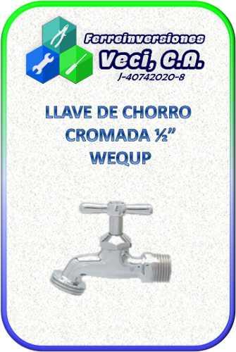 Llave De Chorro Cromada ½ Wequp