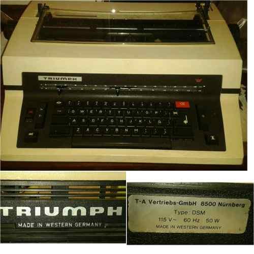 Máquina De Escribir Eléctrica Triumph