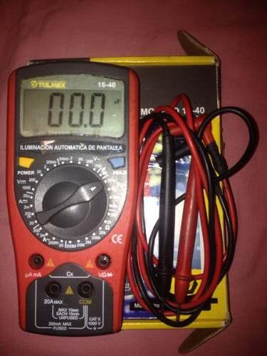 Multimetro Tester Tulmex Casi Nuevo Con Su Caja Y Cables