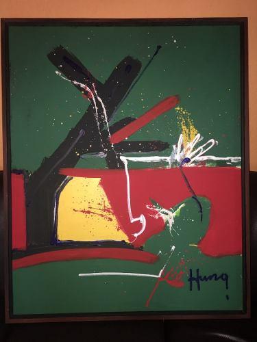 Obra Origina Artista Francisco El Chino Hung 80 X 100