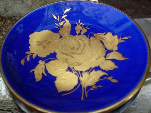 Plato De Porcelana Principado De Asturias Color Azul Cobaldo