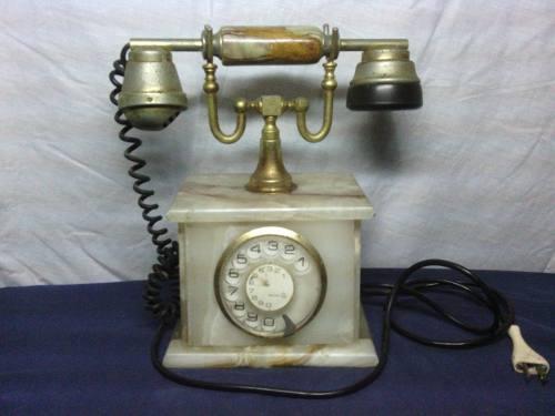 Teléfono Antiguo Con Base De Mármol