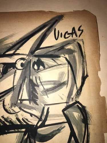 Vendo Original Dibujo De Oswaldo Vigas