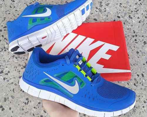 Zapatos Nike Free 5.0 Azul Rey Talla 41