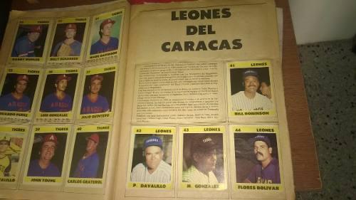 Album De Barajitas De Lvbp Temporada 83-84
