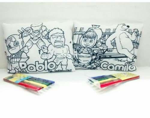Almohada Para Colorear+ Marcadores