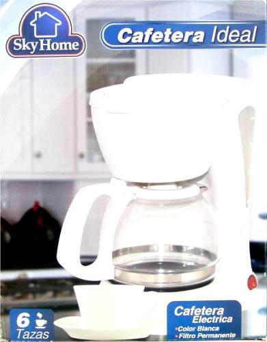 Cafetera Sky Home 6 Tazas Con Interruptor Filtro Permanente