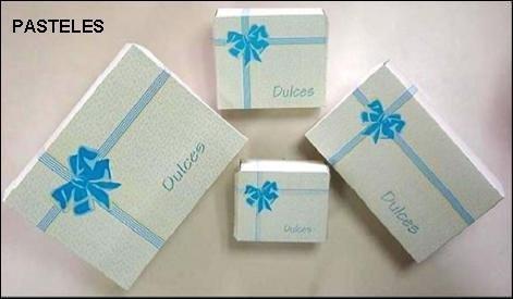 Cajas Para Dulces Impresas De 1 Y 3 Porciónes Paq De 50