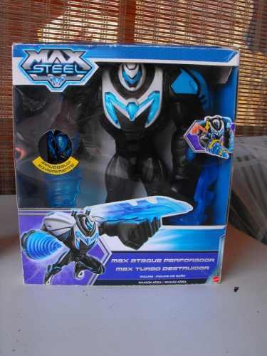 Max Steel Perforador, Extroyer Aracnido Y Triple Amenaza.