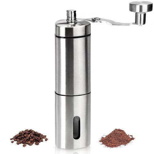 Molinillo Manual Granos De Café. Ajusta El Grosor Del Grano