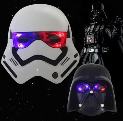 Máscaras Star Wars Darth Vader Y Troopers Con Luz Led