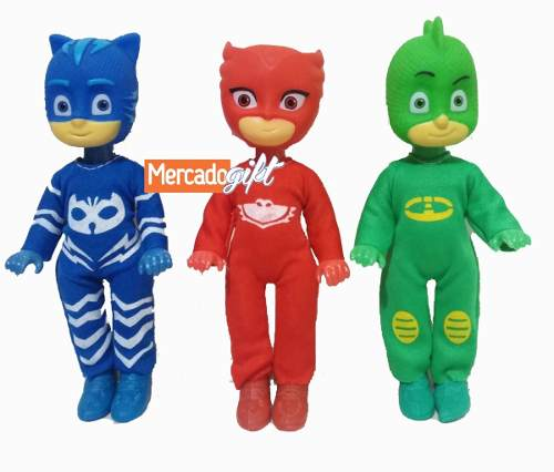 Muñecos Pj Mask Set Con Gecko Catboy Owlette 15cm Juguetes