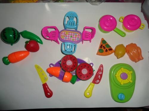 Set De Cocina Juego Para Niñas Juguete De Ollas Frutas