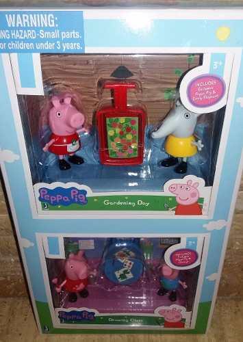 Set De Peppa Pig 4 Personajes Mas Accesorios