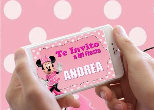 Tarjetas Invitacion Minnie Animada Video Posot Class