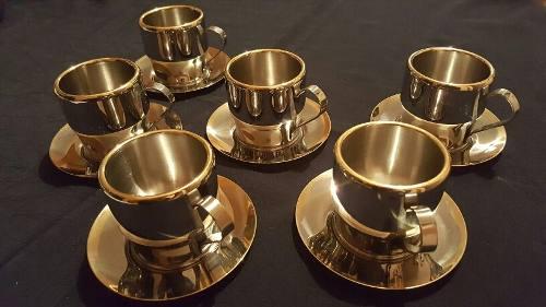 Tazas Para Café Térmicas Juego 12 Piezas Acero Inoxidable