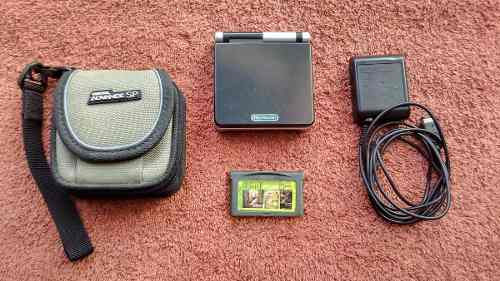 Game Boy Advance Sp Ags-001 Negro Con Plateado