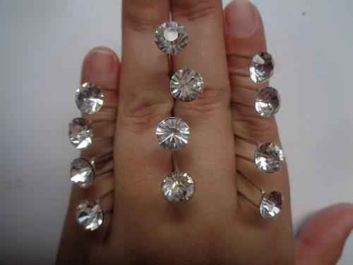 Brillantes De Diamantes Accesorios Para El Cabello Y Uñas