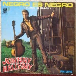 Disco De Acetato Johnny Halladay-negro Es Negro