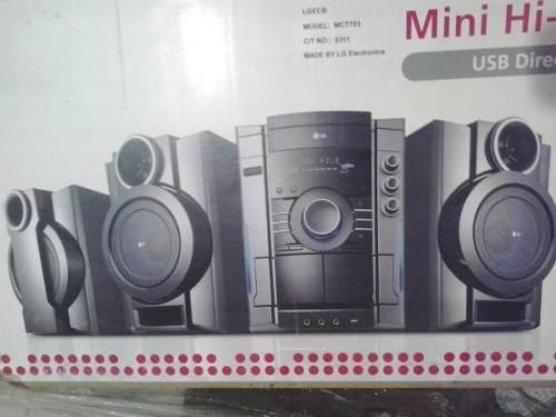 Equipo De Sonido Lg  W. Mct 703 Nuevo Costo 190 Verdes