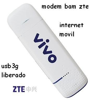 Modem Bam Usb 3g Liberado De Internet Movil Zte Mf100