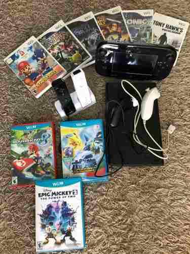Nintendo Wii U 32 Gb.12 Juegos 2 Controles. Esta Como Nuevo