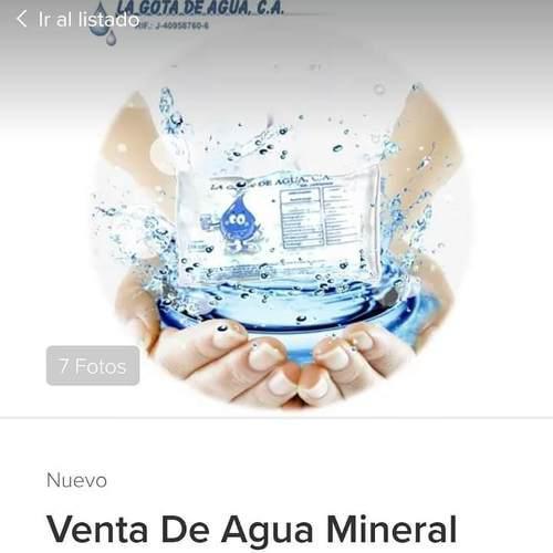 Agua Mineral En Sobres De 250 Ml.