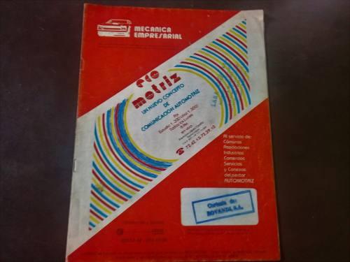Antigua Revista Venezolana Automotriz De Los Años 80tas