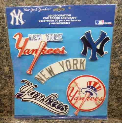 Calcomanias Stickers 3d New York Yankees Decoracion Cuartos