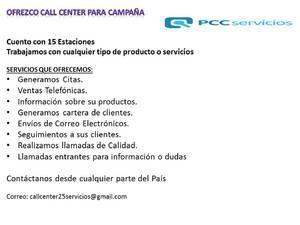 Call center para campaña