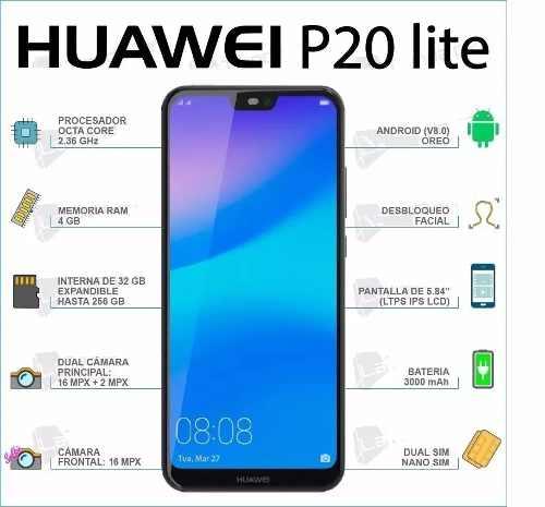 Celular Huawei P20 Lite 32gb 4gb 16mp Dual Sim (310trumps)