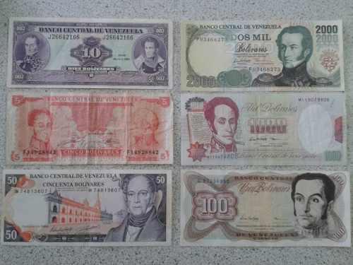 Combos Billetes Y Monedas Antiguos Venezuela.