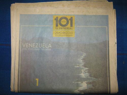 Edición 101 Aniversario Diario El Universal