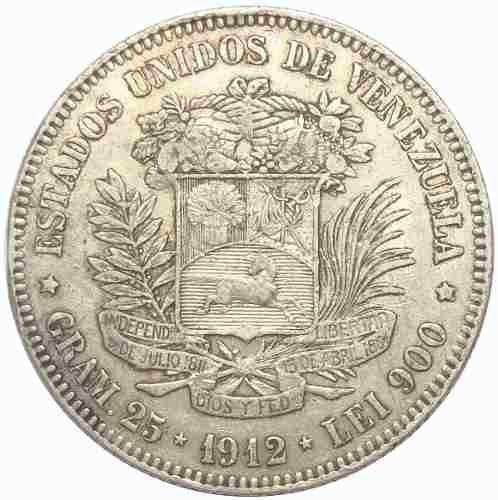 Excelente Moneda 5 Bolívares, Fuerte De  Fecha Ancha
