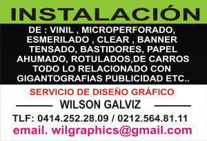Instalacion de Vinil en caracas 0414.252.28.09 / 564.81.11
