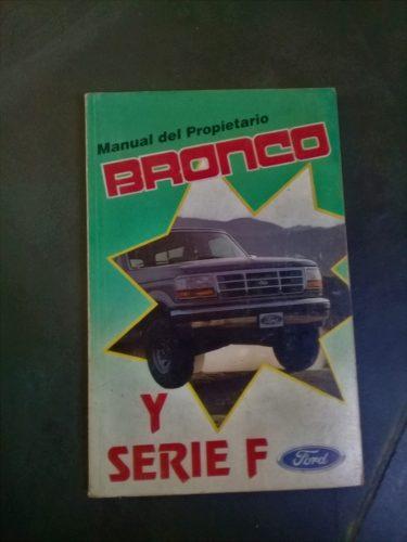 Libro Manual Usuario Ford Bronco F150