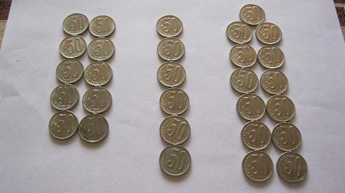 Lote De Monedas De 50 Céntimos Año