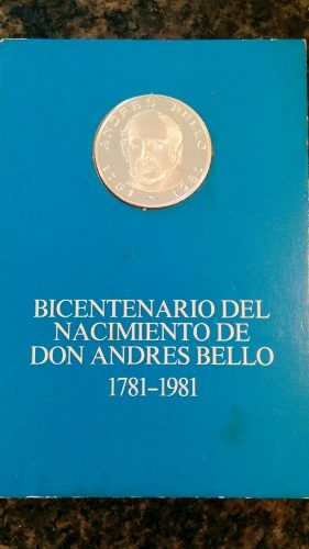 Moneda Bicentenario Del Nacimiento De Andres Bello