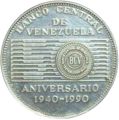 Moneda Conmemorativa 50 Bolivares De  Banco Central
