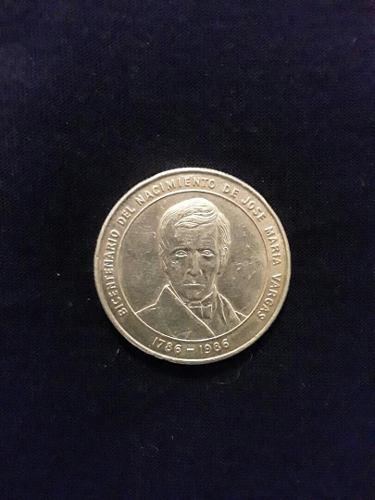 Moneda Conmemorativa Bicentenario Natalicio De J.m Vargas