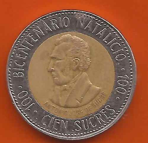 Moneda Conmemorativa Bicentenario Natalicio De Sucre