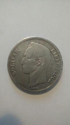 Moneda De 5 Bolivares De Plata Ley 900 Año