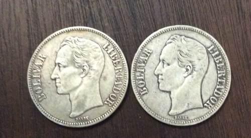 Moneda De Plata 5 Bolívares