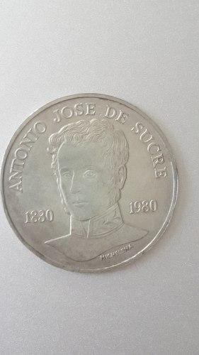 Moneda De Plata Antonio Jose De Sucre. Conmemorativa. 75 Bs.