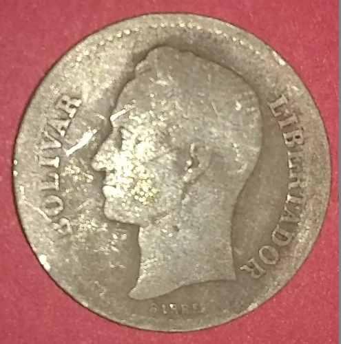 Moneda De Plata De 1 Bs De  Bs ._