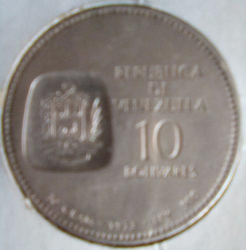 Moneda De Plata Doblón Simón Bolívar