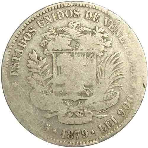 Moneda De Venezuela 5 Bolívares, Fuerte De Plata De
